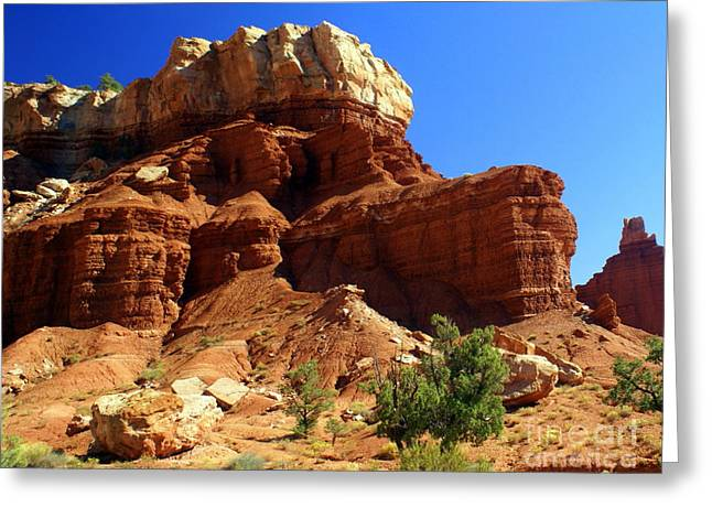 Geology Photographs Greeting Cards - Red Rock 4 Greeting Card by Marty Koch
