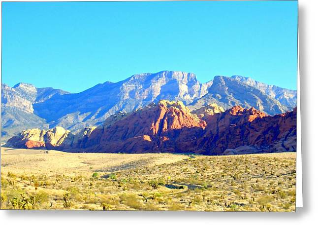 Desert Greeting Cards - Red Rock Canyon 12 Greeting Card by Randall Weidner
