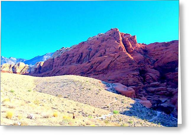 Desert Greeting Cards - Red Rock Canyon 3 Greeting Card by Randall Weidner