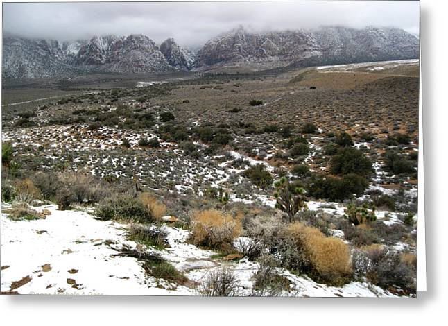 Photogrpah Greeting Cards - Red Rock Canyon In Winter Greeting Card by Michele Ross