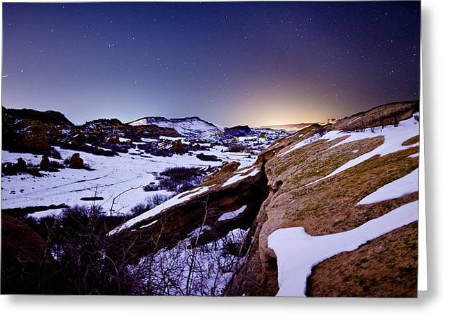 Star Valley Greeting Cards - Red Rock Glow Greeting Card by Adam Pender