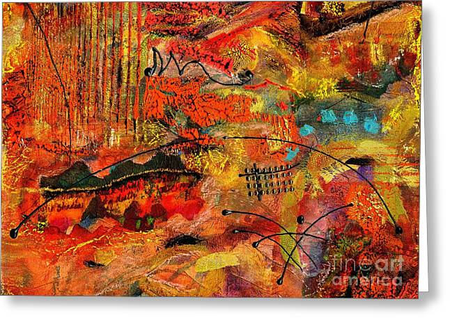 Greeting Cards - Red Rock Road Trip Greeting Card by Angela L Walker