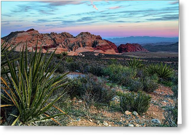 Red Rock Canyon Greeting Cards - Red Rock Sunset II Greeting Card by Rick Berk