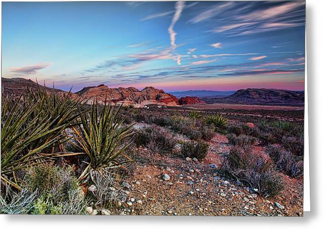 Red Rock Canyon Greeting Cards - Red Rock Sunset Greeting Card by Rick Berk