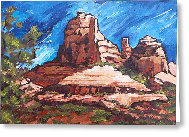 Red Rocks 2 Greeting Card by Sandy Tracey