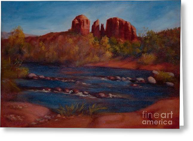 Red Rock Crossing Paintings Greeting Cards - Red Rocks of Sedona Greeting Card by Ruth Ann Sturgill