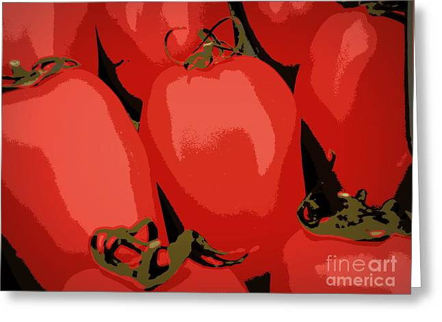 Lainie Wrightson Greeting Cards - Red Romas Greeting Card by Lainie Wrightson