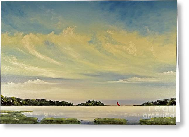 Red Sails Greeting Card by Diana  Tyson