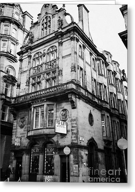 Listed Building Greeting Cards - Red Sandstone Building Designed By Salmon And Gillespie 106 Hope Street And Renfield Lane Glasgow Sc Greeting Card by Joe Fox