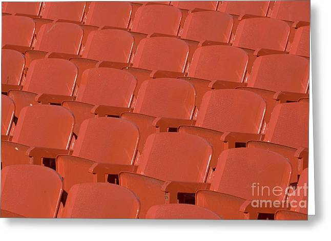 Italian Greeting Cards - Red Seats Greeting Card by Alex Rowbotham