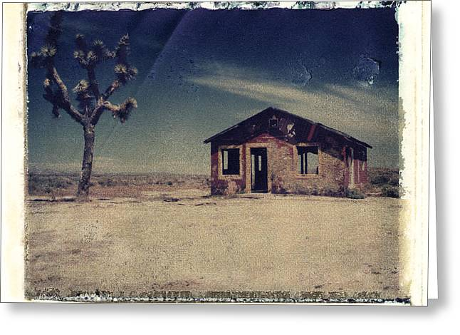 Transfer Greeting Cards - Red Shack and Joshua Tree Greeting Card by Joe  Palermo