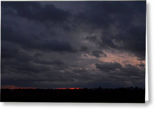 Forboding Greeting Cards - Red Sky in the morning Greeting Card by Debbie Portwood