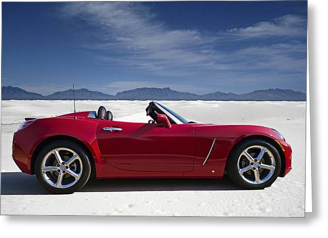 Red Greeting Cards - Red Sky White Sands Greeting Card by Douglas Pittman