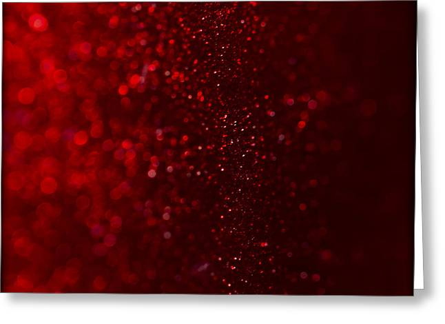 Bambers Greeting Cards - Red Sparkle Greeting Card by Clare Bambers