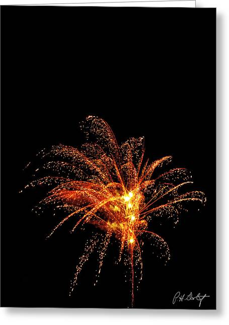 July 4th Greeting Cards - Red Splash Greeting Card by Phill  Doherty