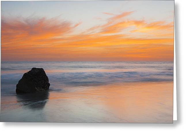 Landscape Framed Prints Greeting Cards - Red Sunset Greeting Card by Filipe Santos