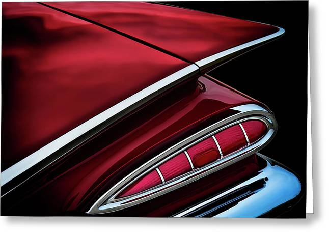 Vintage Greeting Cards - Red Tail Impala Vintage 59 Greeting Card by Douglas Pittman