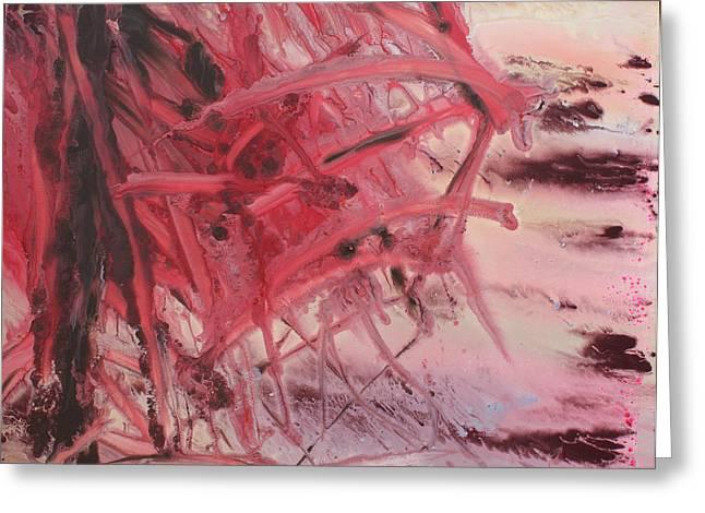 Algae Paintings Greeting Cards - Red Tide Greeting Card by Ethel Vrana
