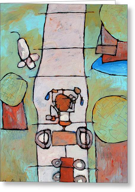 Red Wagon Greeting Cards - Red Trike Greeting Card by Charlie Spear