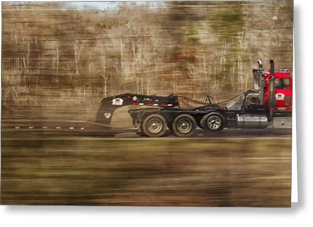 Fredricksburg Greeting Cards - Red Truck in North Carolina Greeting Card by Jim Moore