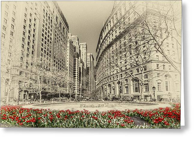 Busy Life Greeting Cards - Red Tulips Greeting Card by Svetlana Sewell