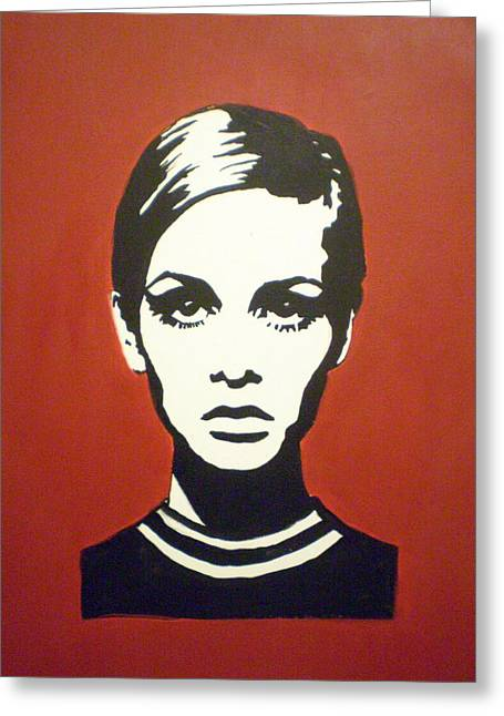 Twiggy Greeting Cards - Red Twiggy Greeting Card by Ruth Oosterman