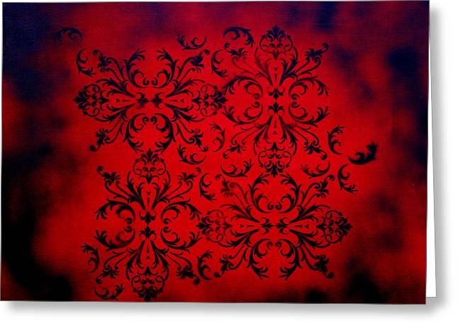 Creating Paintings Greeting Cards - Red Velvet by MADART Greeting Card by Megan Duncanson