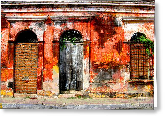 Red Wall by Darian Day Greeting Card by Olden Mexico