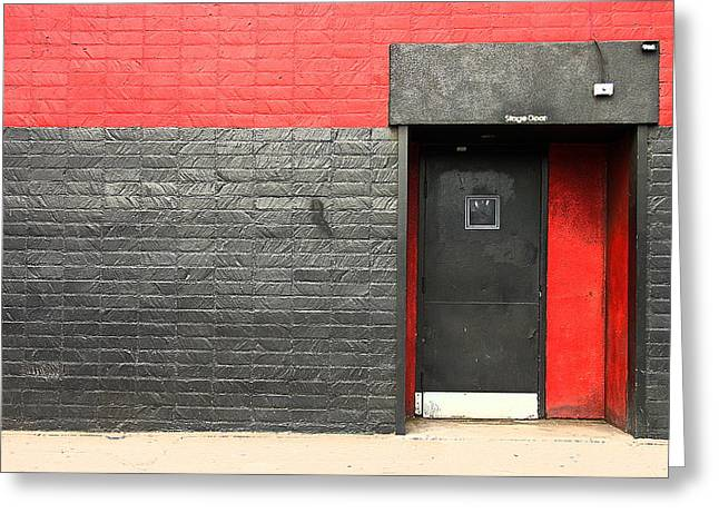 Red Wall Greeting Card by Viktor Savchenko