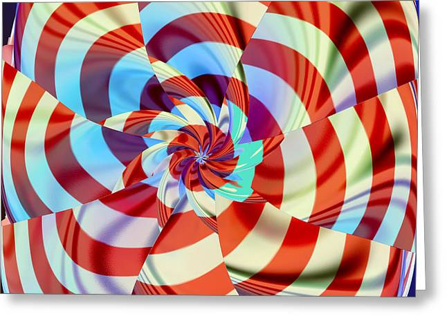 Red White And Blue Greeting Card by Deborah Benoit