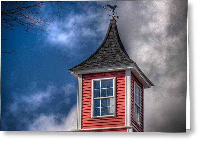 Tonemapping Greeting Cards - Red White and Blue Greeting Card by John Poltrack