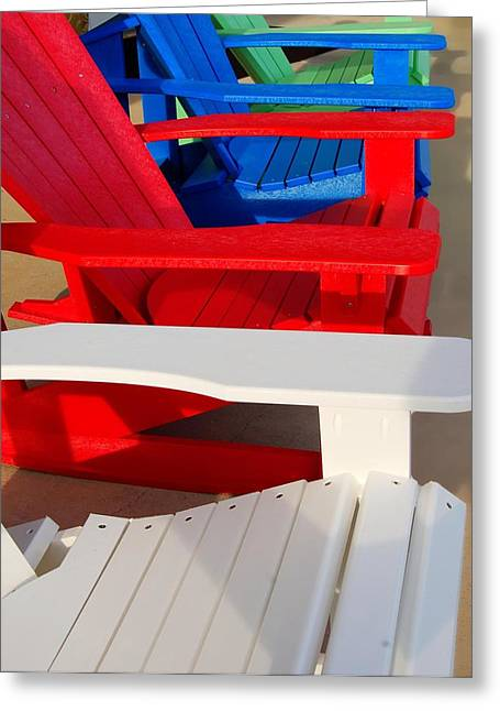Crimson Tide Greeting Cards - Red White and Blue Greeting Card by Michael Thomas
