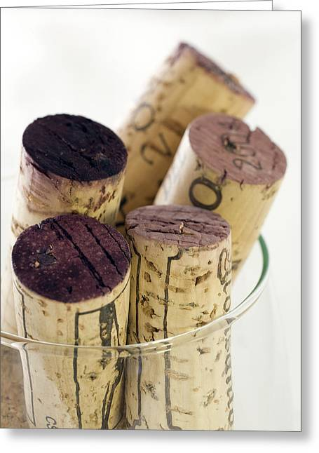 Wine Collector Greeting Cards - Red wine corks Greeting Card by Frank Tschakert