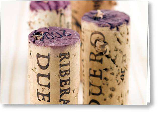 Red wine corks from Ribera del Duero Greeting Card by Frank Tschakert