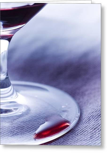 Red Wine Greeting Cards - Red wine glass Greeting Card by Frank Tschakert