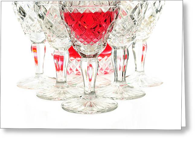 Winetasting Greeting Cards - Red wine glass Greeting Card by Parinya Kraivuttinun