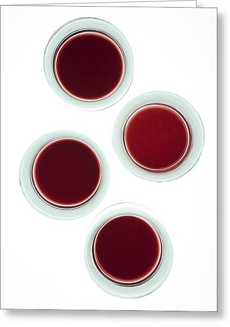 Red Wine Greeting Cards - Red wine glasses Greeting Card by Frank Tschakert