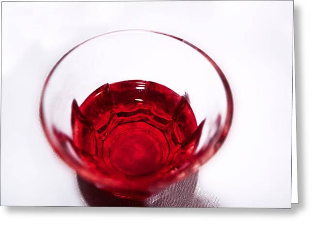 Red Wine Prints Greeting Cards - Red Wine Greeting Card by Maria Panagiotaki