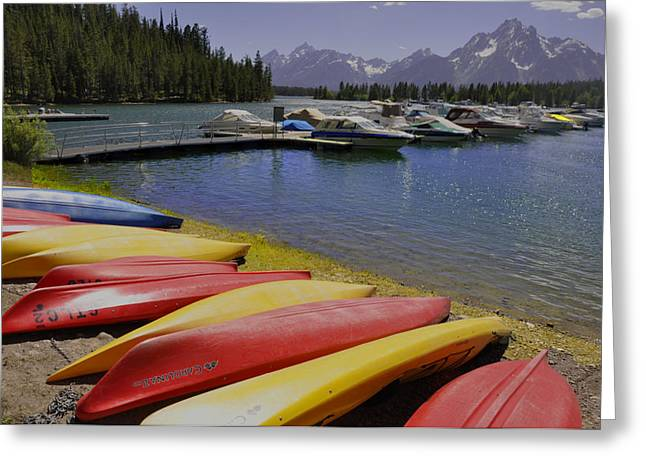 Yellow Canoe Greeting Cards - Red Yellow Greeting Card by Vijay Sharon Govender