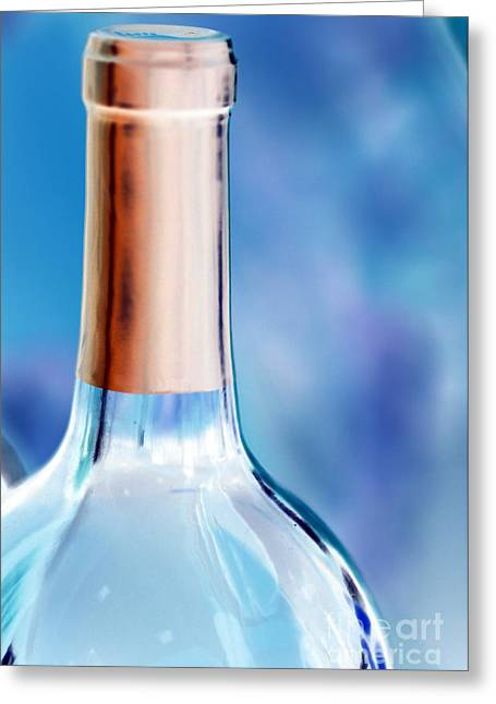 Images Of Wine Bottles Photographs Greeting Cards - Redemption Greeting Card by Amanda Barcon