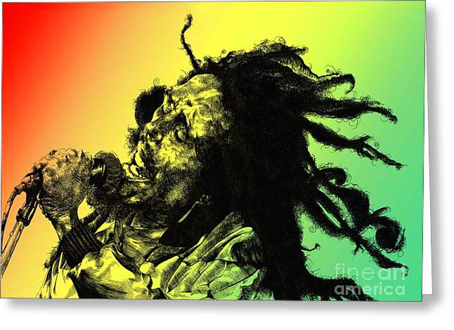 Bob Greeting Cards - Redemption Song Greeting Card by Keith  Thurman