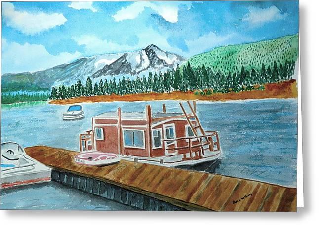 Redfish Lake Greeting Card by Don L Williams