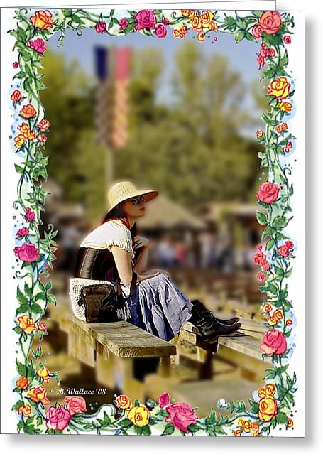 Redheaded Beauty Greeting Card by Brian Wallace