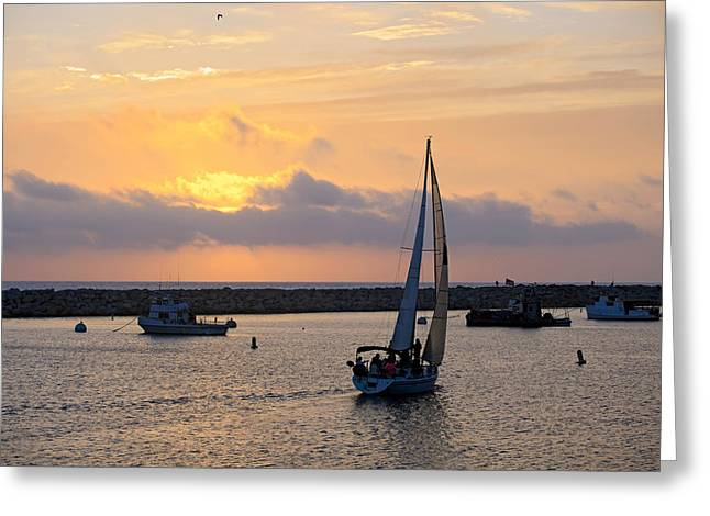 California Beach Art Greeting Cards - Redondo Sunset Greeting Card by Tomas del Amo