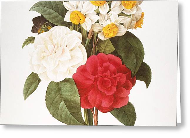 REDOUTE: BOUQUET, 1833 Greeting Card by Granger