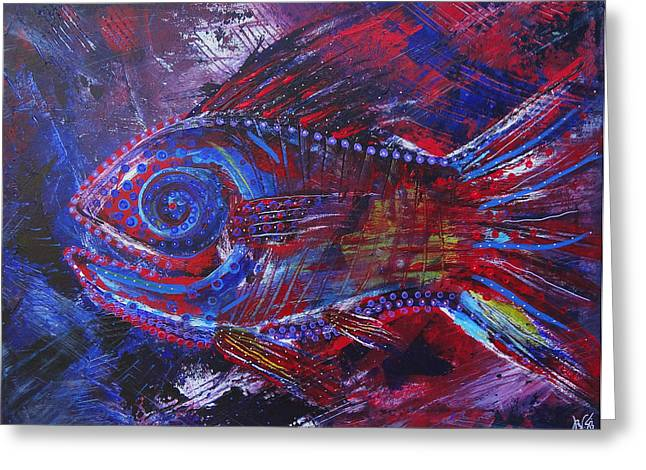 Nature Phots Greeting Cards - Redribfish Greeting Card by Jeremy Smith