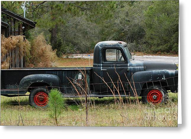 Patina Digital Art Greeting Cards - Reds Old Truck Greeting Card by AdSpice Studios