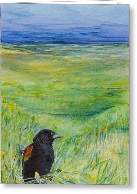 Oceon Greeting Cards - Redwing Blackbird Greeting Card by Michele Hollister - for Nancy Asbell