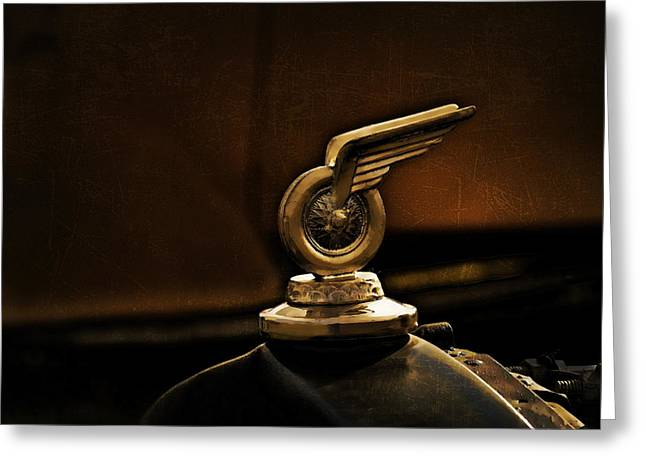 Vintage Hood Ornaments Digital Art Greeting Cards - Redwing Mascot Greeting Card by Douglas Pittman