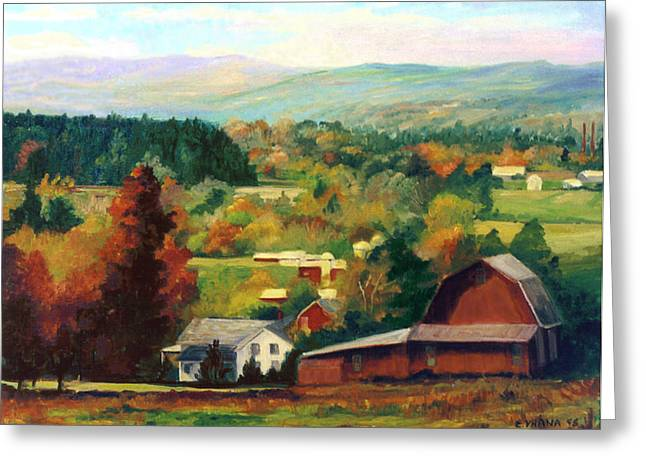 Finger Lakes Greeting Cards - Reeds Farm Ithaca New York Greeting Card by Ethel Vrana